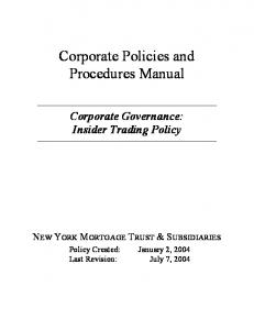 Corporate Policies and Procedures Manual