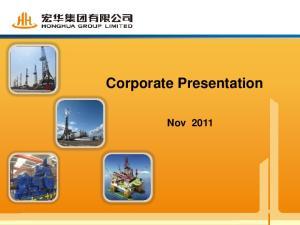 Corporate Presentation. Nov 2011