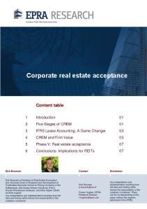 Corporate real estate acceptance