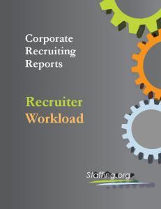 Corporate Recruiting Reports Recruiter Workload