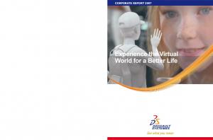 CORPORATE REPORT Experience the Virtual World for a Better Life