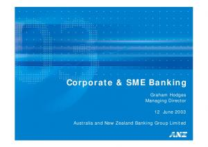Corporate & SME Banking