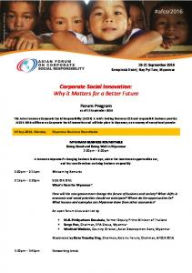 Corporate Social Innovation: Why it Matters for a Better Future