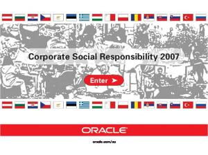Corporate Social Responsibility 2007