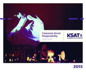 Corporate Social Responsibility. Annual Report