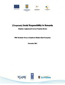 (Corporate) Social Responsibility in Romania