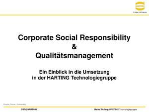 Corporate Social Responsibility & Qualitätsmanagement