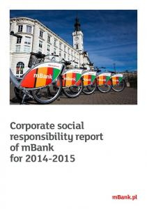 Corporate social responsibility report of mbank for
