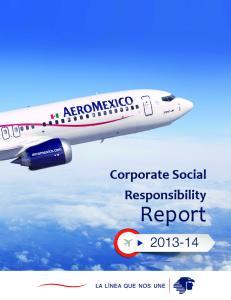 Corporate Social Responsibility. Report