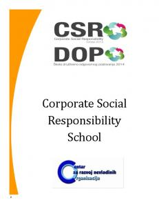 Corporate Social Responsibility School
