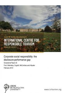 Corporate social responsibility: the disclosure-performance gap