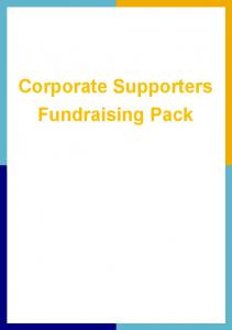 Corporate Supporters Fundraising Pack