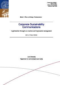 Corporate Sustainability Communications