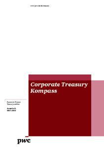 Corporate Treasury Kompass Passion for Finance, Treasury and Risk