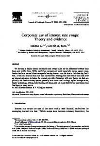 Corporate use of interest rate swaps: Theory and evidence