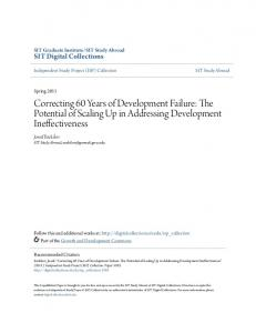 Correcting 60 Years of Development Failure: The Potential of Scaling Up in Addressing Development Ineffectiveness