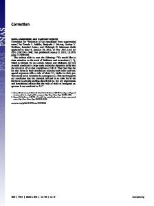 Correction PNAS March 6, 2012 vol. 109 no. 10