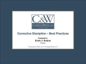 Corrective Discipline Best Practices