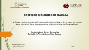 CORREDOR BIOLOGICO DE OAXACA