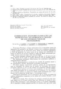 CORRELACION ANATOMO-CLINICA DE LAS NEFROPATIAS: SU EXPRESION A TRAVES DE LOS DIVERSOS TIPOS DE PROTEINURIAS