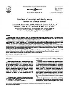 Correlates of overweight and obesity among lesbian and bisexual women