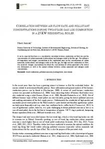 CORRELATION BETWEEN AIR FLOW RATE AND POLLUTANT