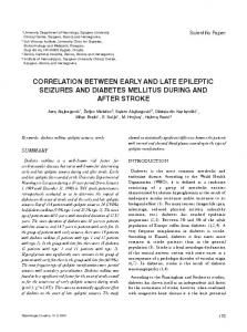CORRELATION BETWEEN EARLY AND LATE EPILEPTIC SEIZURES AND DIABETES MELLITUS DURING AND AFTER STROKE