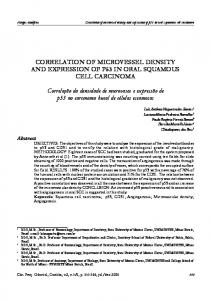 CORRELATION OF MICROVESSEL DENSITY AND EXPRESSION OF P53 IN ORAL SQUAMOUS CELL CARCINOMA