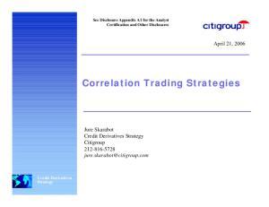 Correlation Trading Strategies