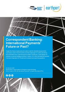 Correspondent Banking: International Payments Future or Past?