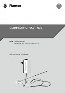 CORREX UP ENG Titanium Anode Installation and operating instructions