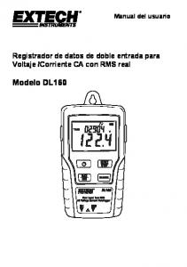 Corriente CA con RMS real. Modelo DL160