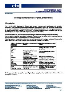 CORROSION PROTECTION OF STEEL STRUCTURES