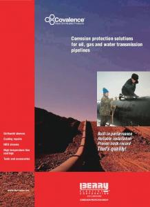 Corrosion protection solutions for oil, gas and water transmission pipelines