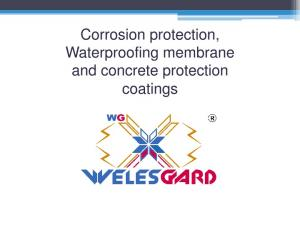 Corrosion protection, Waterproofing membrane and concrete protection coatings