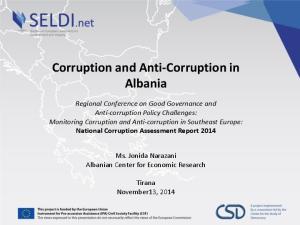 Corruption and Anti-Corruption in Albania