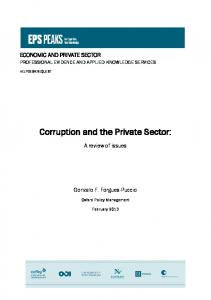 Corruption and the Private Sector: