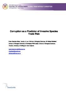 Corruption as a Predictor of Invasive Species Trade Risk
