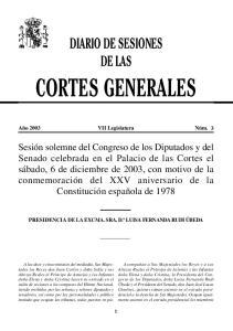 CORTES GENERALES DIARIO DE SESIONES DE LAS