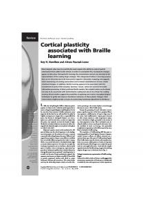 Cortical plasticity associated with Braille learning
