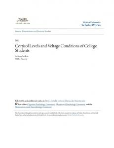 Cortisol Levels and Voltage Conditions of College Students