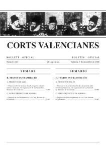 CORTS VALENCIANES BOLLETÍ OFICIAL BOLETÍN OFICIAL