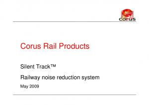 Corus Rail Products. May 2009