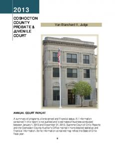 COSHOCTON COUNTY PROBATE & JUVENILE COURT