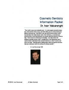 Cosmetic Dentistry Information Packet