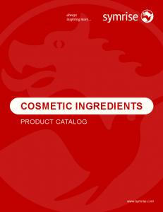 COSMETIC INGREDIENTS PRODUCT CATALOG