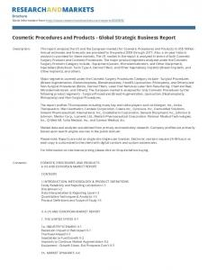 Cosmetic Procedures and Products - Global Strategic Business Report