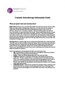 Cosmetic Sclerotherapy Information Guide