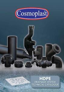 Cosmoplast PE Soil, Waste & Vent System