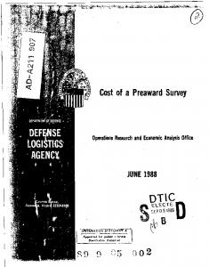 Cost of a Preaward Survey